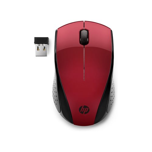 HP Wireless Mouse 220 - red